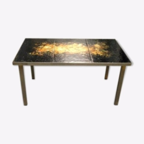 Small Table Iron And Bronze Marble Top Tables Mobiliers Nord